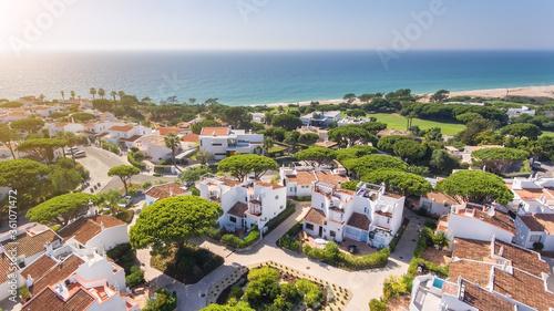 Obraz na plátně Aerial, aldeia Vale de Lobo, Algarve, Portugal on a sunny day