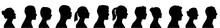 Silhouette Heads.Set Of Profil...