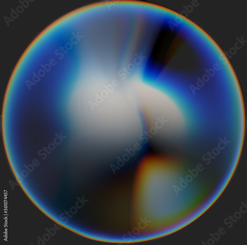 Photo Chromatic aberration and ball deformed sexy woman buttocks