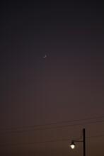 Cielo Nocturno Con Luna Crecie...