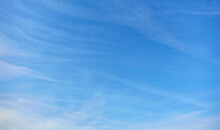 Blue Sky In The Day With Few White Clouds