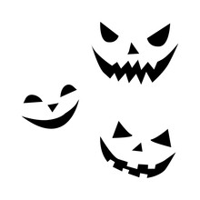 Vector Set Of Smiling Faces Gh...