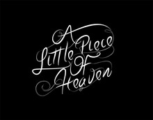 A Little Piace Of Heaven Lette...
