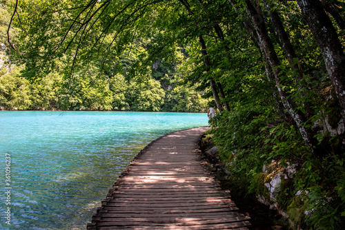 Fototapety, obrazy: Picturesque morning in Plitvice National Park. Colorful spring scene of green forest with pure water lake. Great countryside view of Croatia, Europe