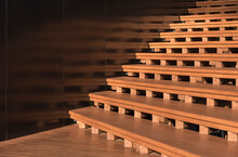 Wooden Stairs In Detail. Moder...