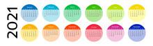 Calendar For 2021 Isolated On ...