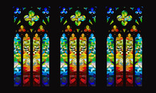 Stained Glass Windows, Cathedral Mosaic Stylization