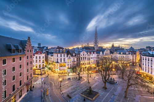Photo Brussels, Belgium Plaza and Skyline