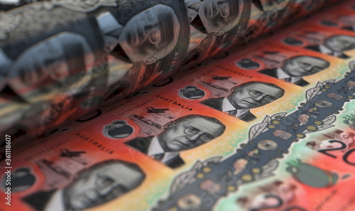 Cuadros en Lienzo Printing Australian Dollar Notes