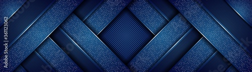 Cuadros en Lienzo Abstract modern royal dark blue with overlap layers background