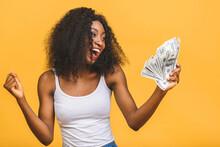 Happy Winner. Portrait Of Afri...