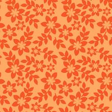 Orange Seamless Pattern With F...