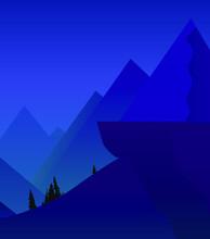 Mountain Landscape Vector Illu...