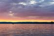 Rich Magenta sunset on water