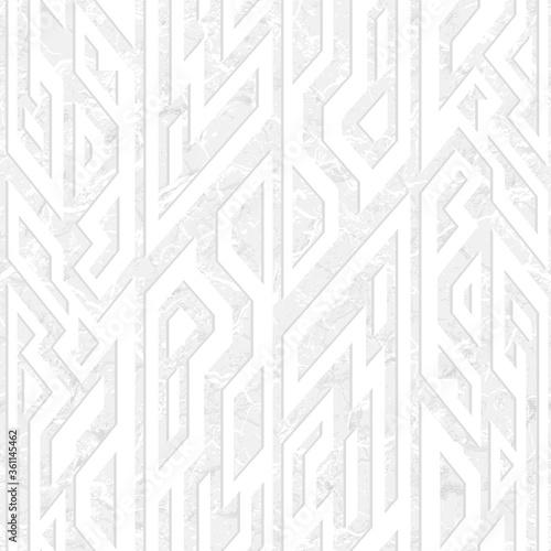 Tapeta Ecru  white-ancient-geometric-seamless-pattern-with-grunge-effect