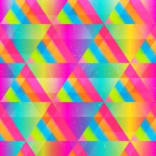 Bright Triangle Seamless Texture.