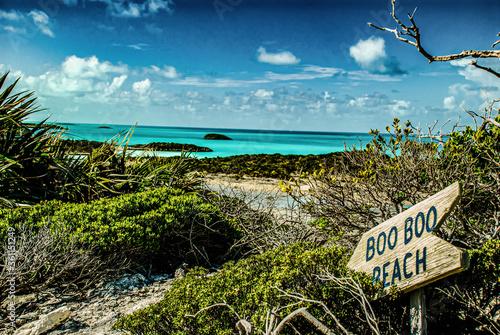 Valokuva Beach and Sea, Boo Boo beach, The Bahamas, Caribbean Island, Travel Photography