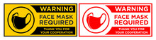Face Mask Required Sign. Horiz...