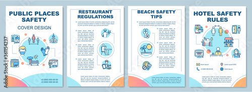 Canvas Print Public places safety rules brochure template
