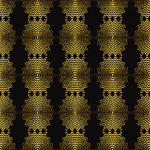 Seamless Pattern With Abstract Bronze Oval Op Art Ovals, Modern Concept For Your Design.