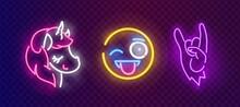 Pop Art Icons Set. Pop Art Neo...