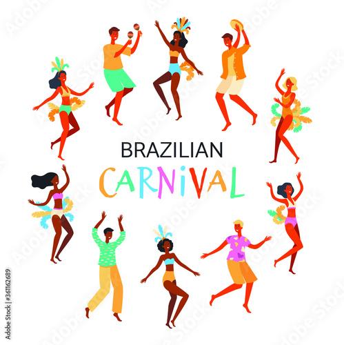Brazilian Carnival Canvas