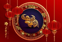 Happy New Year 2021 / Chinese New Year / Year Of The Ox / Zodiac Sign For Greetings Card, Invitation, Posters, Brochure, Calendar, Flyers, Banners.