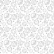 Thin line icons of planets in seamless pattern. Modern flat line design element vector collection