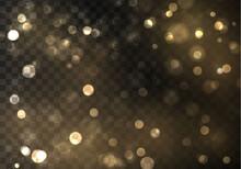 Gold Bokeh Blur
