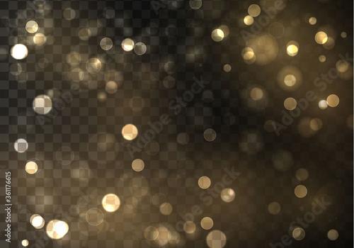 Leinwand Poster Gold bokeh blur