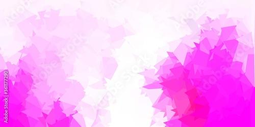Light pink vector polygonal backdrop.