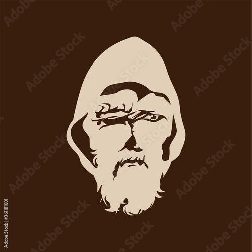 Blind Old Peasant Man Medieval Nordic Viking God Odin Canvas Print
