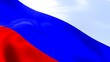 Leinwanddruck Bild - An illustration 3D of the flag of Russia in the wind
