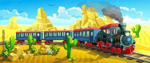 Fotografía locomotive in the wild west