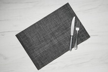 Gray Placemat Table Mat With K...