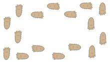 Frame Footprints Of A Walking ...