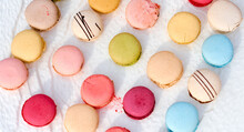 Colorful Macaroons On The Tabl...