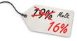 canvas print picture - Anhänge-Etikett - Senkung der MwSt. von 19% auf 16%