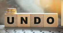Undo Word On Wooden Cubes With...
