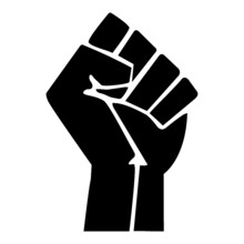The Raised Fist Symbol Of Solidarity And Support