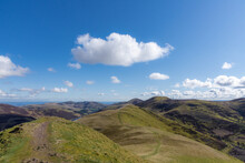 Ridge Walk In Pentland Hills, Scotland