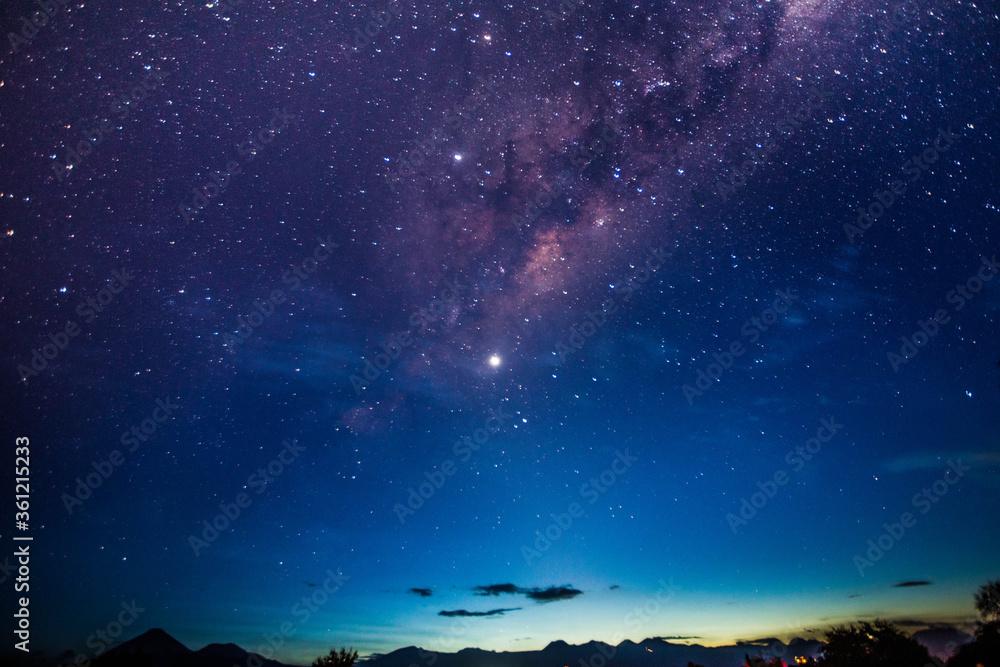 Fototapeta stary night with milky way in the Atacama desert in Chile #4