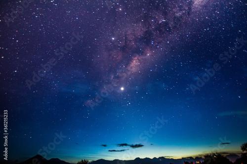 Fototapeta stary night with milky way in the Atacama desert in Chile #4 obraz