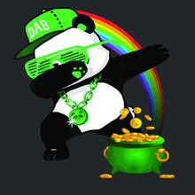 Cool Dabbing Panda St Patricks...