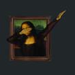 Dabbing Mona Lisa Painting La Gioconda vector design new