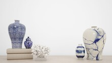 3d Rendering Of Antique Blue A...