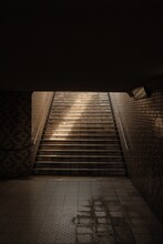 Vertical Shot Of A Wide Stairw...