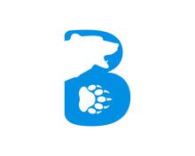 B Letter With Bear Head Logo