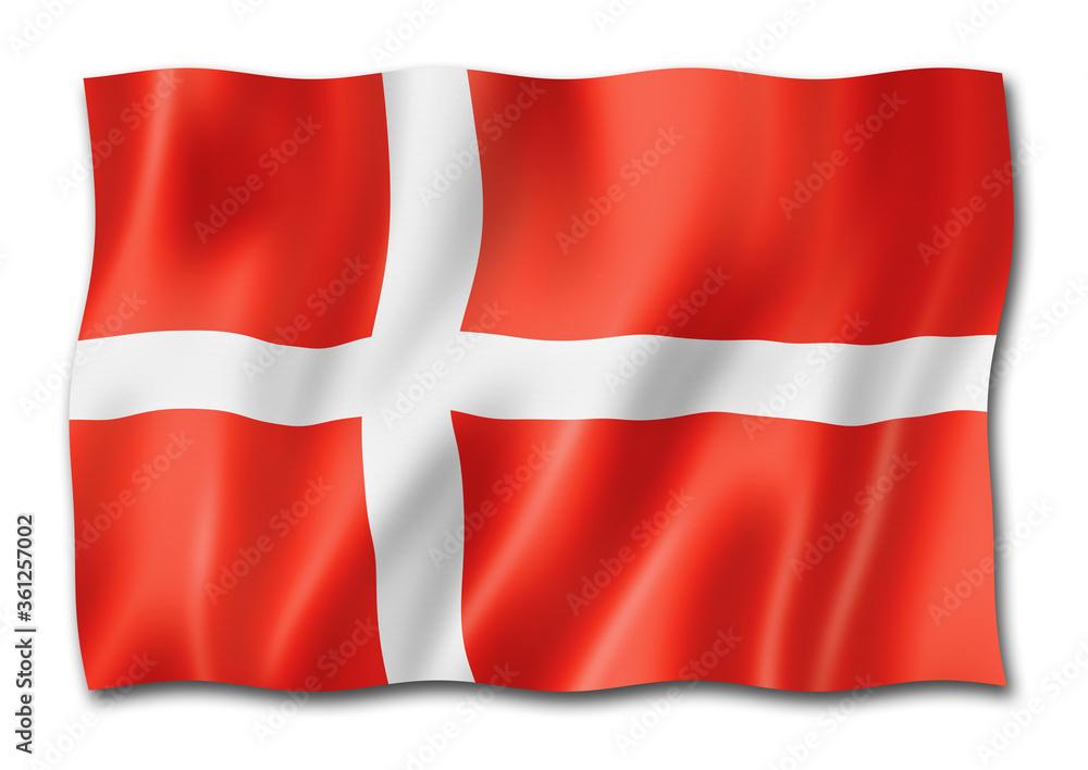 Fototapeta Danish flag isolated on white
