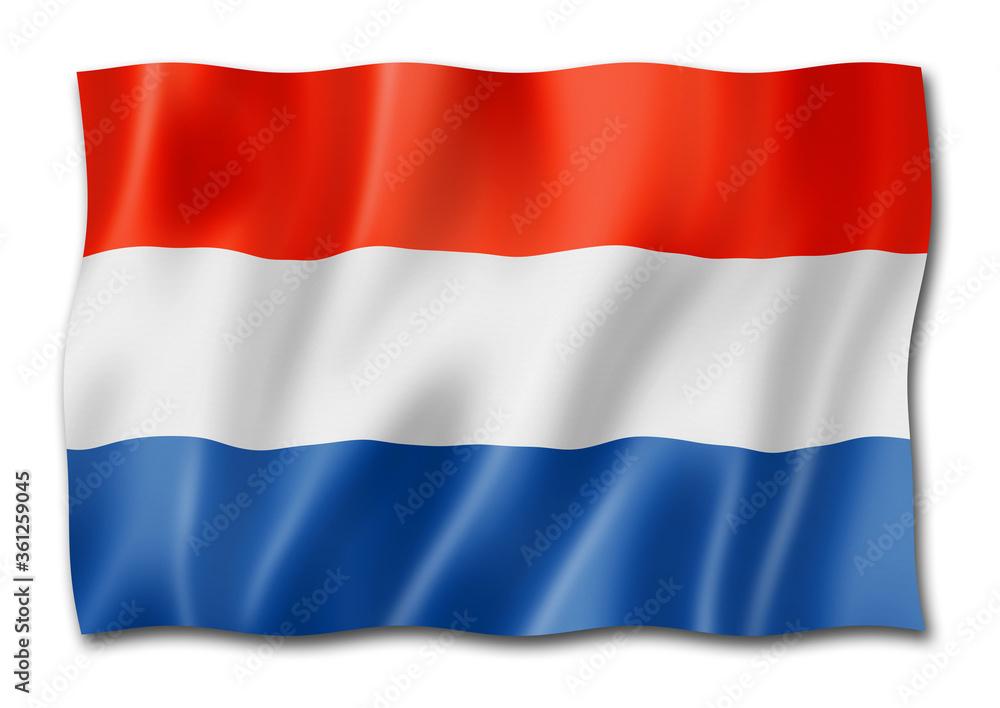 Fototapeta Netherlands flag isolated on white